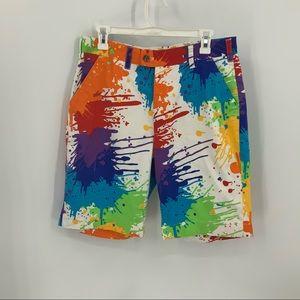 Loudmouth paint splatter golf shorts 32